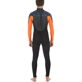 Rip Curl Omega 3/2 Back Zip Steamer Traje Triatlón Hombre, orange
